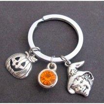 Halloween Key Chain, Purmpkin Key Ring, Jack O Lantern Keychain, Halloween  - $9.50