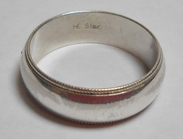 925 Sterling Silver Milgrain 6mm Wedding Anniversary Band Sz 6.25 Ring H... - $39.99