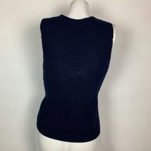 Theyskens Theory Sweater Vest Wool Navy Blue Women Sz S image 2