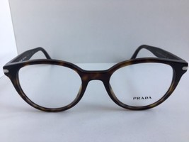 New PRADA VPR 0T7 2AU-1O1 50mm Round Tortoise Eyeglasses Frame No case #4 - $189.99