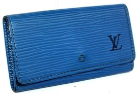 Auth Louis Vuitton toledo blue epi leather  4 Key Case key holder Spain CA1926 - $90.29