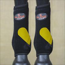 M- Hilason Infra-Tech Horse Rear Hind Leg Sport Boot Medicine Yellow U-OW-M - $64.95