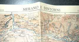 Antique 1930s North Italy Map TCI Carta Merano & Surroundings South Tirol Alpine image 5