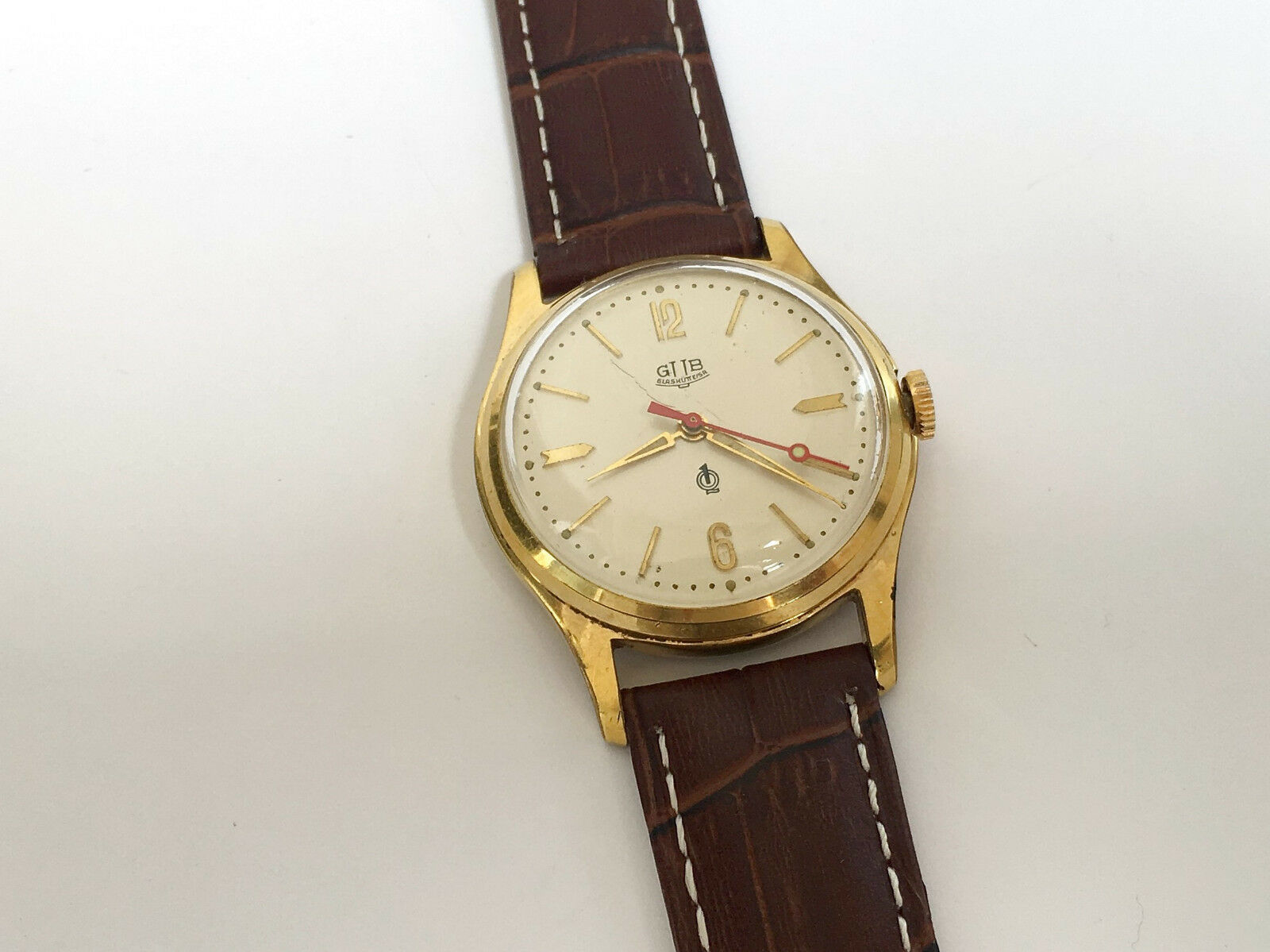 Vintage Rare GLASHUTTE GUB Q1 Chronometre cal. 60.3 Mechanical Germany Watch image 2