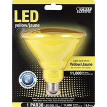 FEIT ELECTRIC PAR38/Y/10KLED Non-Dimmable Led Lamp, 120 Vac, CRI >80, 4-3/4 in D