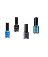 Set Of 4 Revlon Enamel Longwear Nail Polish Assorted Colors Dark Cold Bl... - $14.99