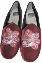Marc Jacobs Velvet Embroidery Women's Fur Lined Slippers Loafer Shoes 40.5 - £46.69 GBP