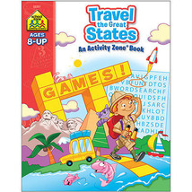 Activity Workbook-Travel The Great States - Age... - $10.65