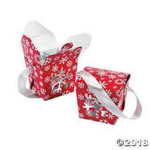 Red & White Snowflake Take Out Boxes  - $10.24