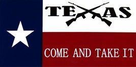 Wholesale Lot of 6 TeXas Come and Take It Crossed Rifles Decal Bumper Sticker - $13.88