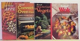 4 Vintage Cookbooks by Sunset including Appetizers, WOK, Vegetables - $9.99