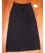 Women's NWT Susan Bristol Black Skirt ~ Long ~ Size 6 ~ 100% Cotton ~ Ex... - $29.69