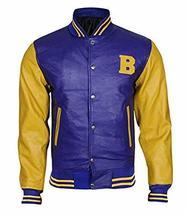 Teen Wolf Varsity Scott Howard Letterman Michael Fox Bomber Leather Jacket image 1