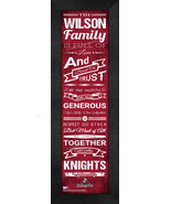 "Personalized Bellarmine University ""Knights"" 24x8 Family Cheer Framed Print - $39.95"