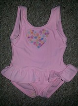 OSH KOSH Pink One Piece Skirted Bathing Suit Girls Size 12 months - $2.88