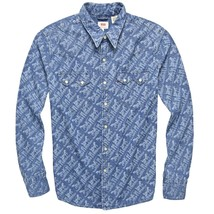 Levi's Men's Classic Casual Denim Printed Sawtooth Western Shirt image 1