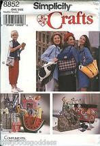 Simplicity 8852 Handbags Totes Purses Lunch Backpack crafts pattern UNCUT FF - $8.86