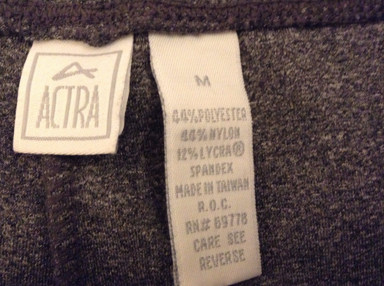Children's ACTRA Gray Strechy Pants Medium Weight Sz Child Medium