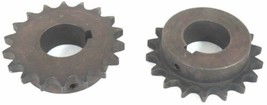 "LOT OF 2 MARTIN 50BS18 ROLLER SPROCKETS 1-1/2"" BORE 18 TEETH  50BS18-1-1/2"