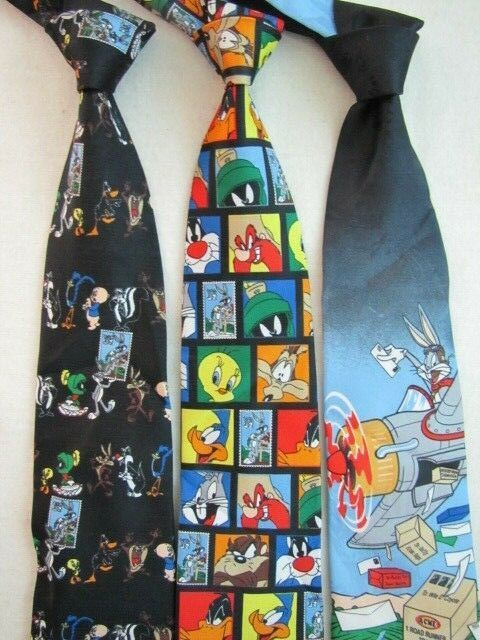Primary image for NEW Looney Tunes STAMP COLLECTION Necktie Choose Your Pattern Characters