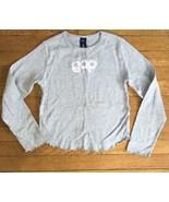 * Gap Kids gray logo long sleeve tee shirt top XL extra large 12 girls - $4.95