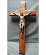 """15"""" Crucifix by Jeweled Cross Co. on Oak Hard to Find - $36.99"""