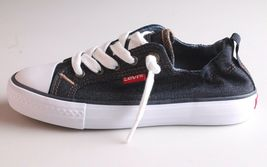 NEW Levi's Denim Blue Girls Stan G Canvas Sneakers Gym Shoes New in Box 1091100 image 3