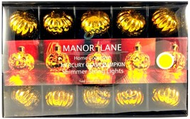 $35 Manor Lane Mercury Glass Pumpkin Harvest Shimmer String Lights Batte... - $28.68