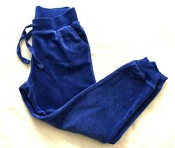 Justice Girls Pants Sz 6 Blue Velour Sequin Sweat Pants Athletic Casual ... - $18.80