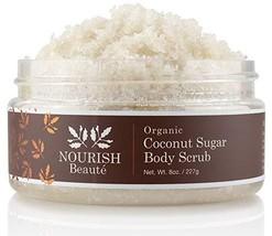 Nourish Beaute Organic Sugar Body Scrub for Exfoliation and Cellulite, Hydrates