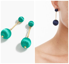 Nwt J.Crew 100 %Authentic Dark Jade Thread Ball Drop Earrings - $23.99