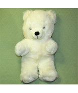 "Vintage Stuffed HUGGABLE BEAR Teddy 22"" White Plush Animal JS TOYS KOREA... - $43.56"