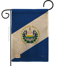 El Salvador Burlap - Impressions Decorative Garden Flag G158151-DB - $22.97