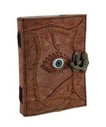 Zeckos Leather Journal All Knowing Eye Stitched Embossed Leather Blank J... - $41.25