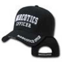 Narcotics Officer Police Embroidered Black Hat Cap - $31.58