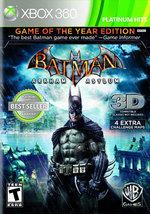 BATMAN:ARKHAM ASYLUM GAME OF THE YEAR  - Xbox 360 - (Brand New) - $30.54