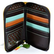 Chala Handbags Faux Leather Whimsical Sloth Mustard Zip Around Wristlet Wallet image 3