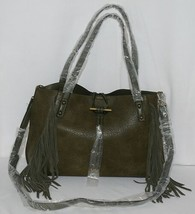 Simply Noelle Brand HB209 Sage Green Color Womens Fringed Toggle Loop Purse image 1