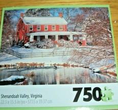Jigsaw Puzzle 750 Pcs Shenandoah Valley Virginia Red Farmhouse Pond None... - $9.89