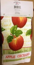 APPLE ORCHARD KITCHEN SET 3pc Towel Mitt Potholder Red Green Apples Linens image 2