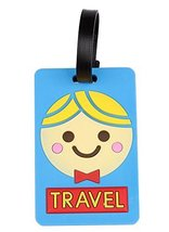 Set Of 2 Fashional Luggage Tag Bag Tags Silicone Name Tag Travel Tag [Blue Boy]
