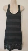 Forever 21 Twist Sleeveless Metallic Black Dress Medium Size - $9.80