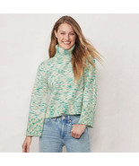 LC Lauren Conrad Green Space Dye Bell Sleeve Turtleneck Sweater - XL - $50.00