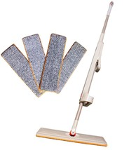 Microfiber Dust Mop Self-wringing Flat Mop Wet Dry Rotatable Head,Lightw... - $23.75