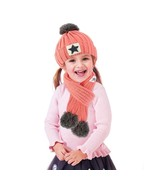 2Pcs Knitted Kids Winter Hat With Scarf Set Thick Hat Scarf With Pompom ... - $26.99