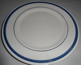 "NAVY BLUE BY NAUTICA Dinner Plate Stripes 10.25"" Portugal Excellent Cond... - $21.78"