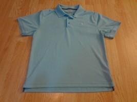 Men's Under Armour M Light Blue S/S Polo Shirt - $15.88