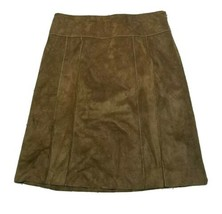 Women's Ann Taylor Leather Skirt ~ Size 8 ~ Straight ~ Knee Length ~ Lined - $24.74