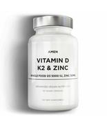 Amen Vitamin D, K2 & Zinc, Cholecalciferol D3 5000 IU, Organic Whole Foo... - $22.99