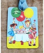 Hang Tags Happy Birthday Party Kids Cake Balloon Tags or Magnet Handcraf... - $19.80